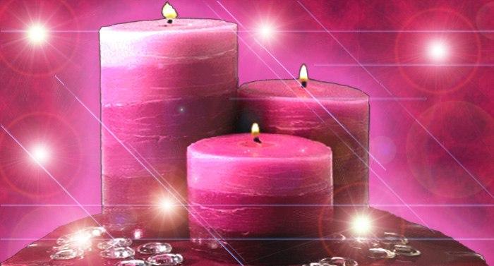 Hechizo con vela rosa